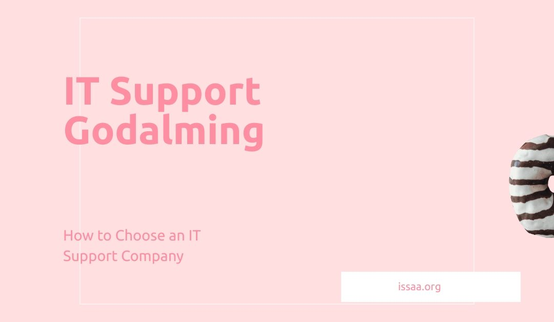 IT support godalming is displayed against a pink background