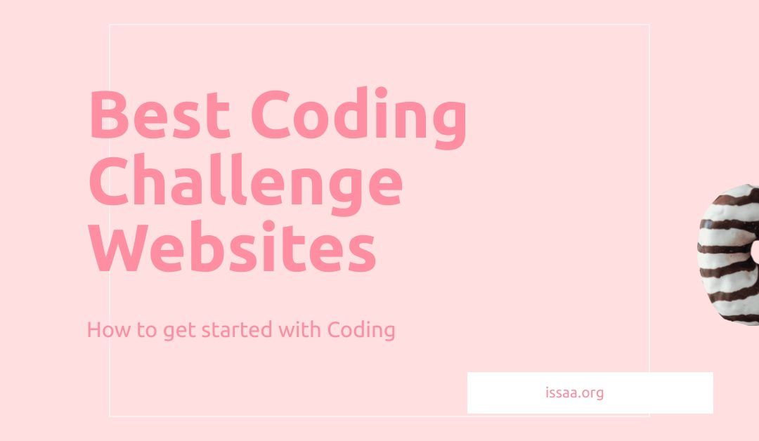 Best coding challenge websites is displayed on a pink background.